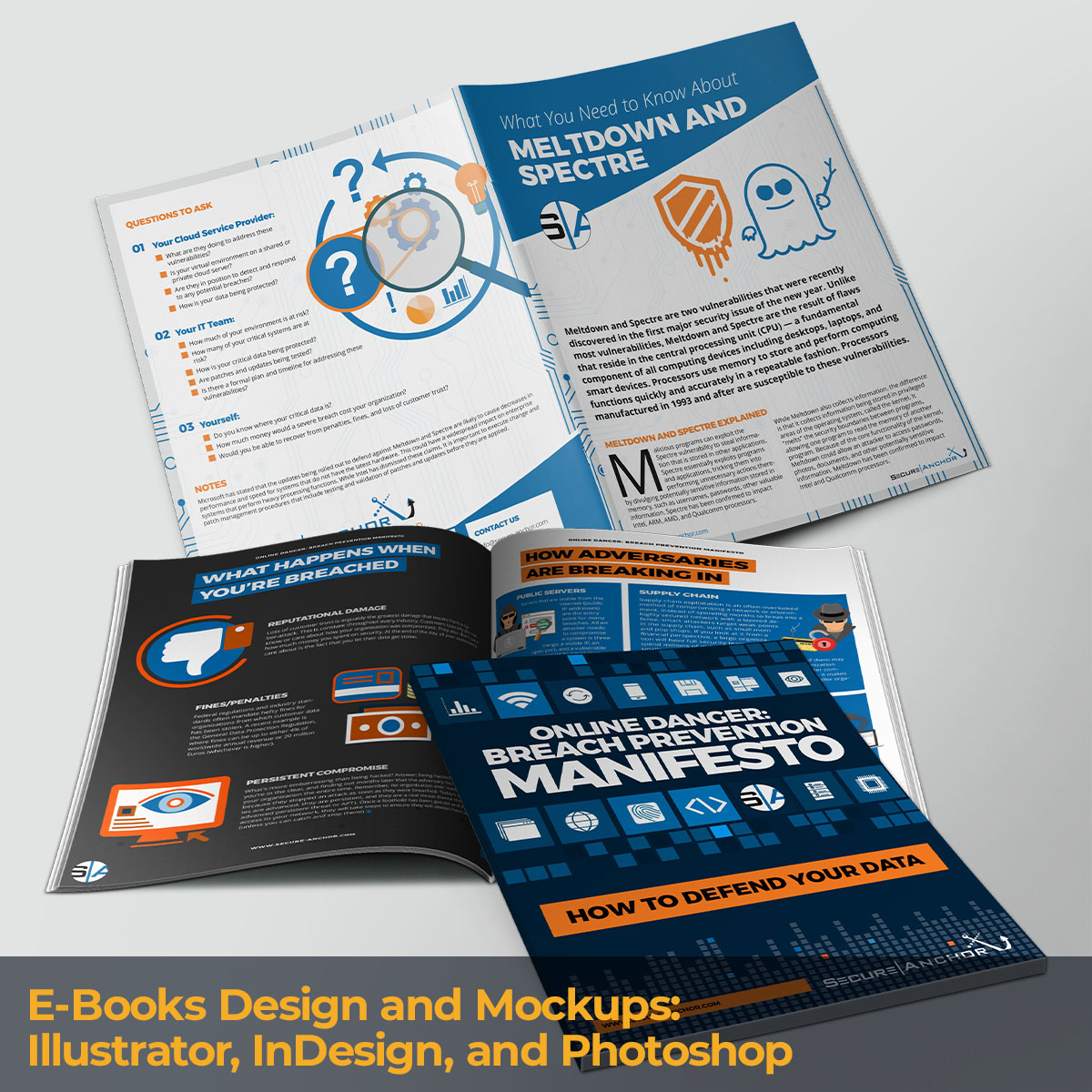 E-Books Design and Mockups
