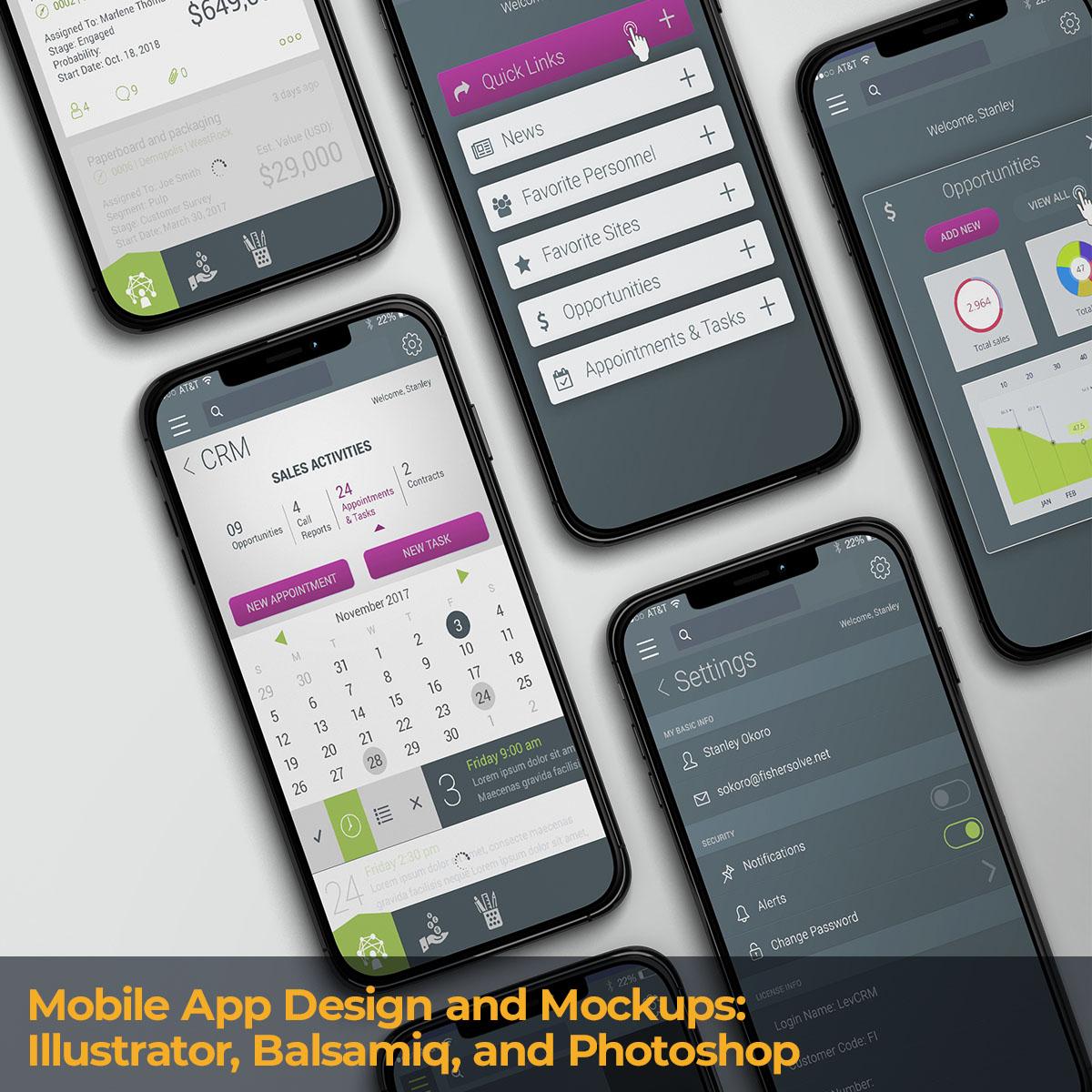 Mobile App Design and Mockups