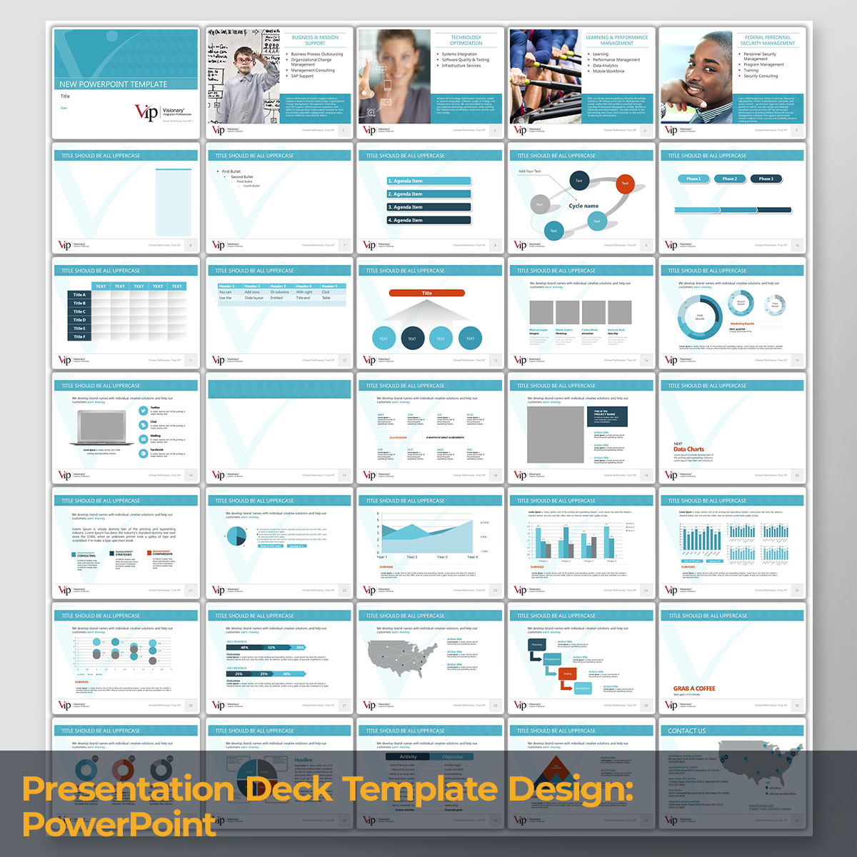 Presentation Deck Template Design