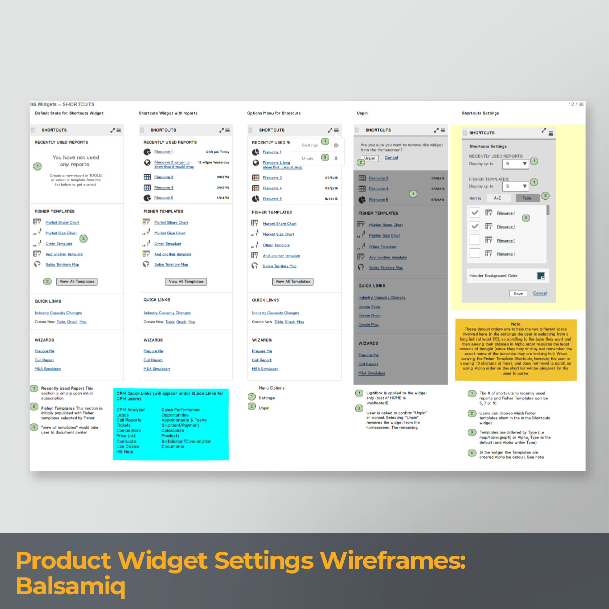 Product Widget Settings Wireframes_